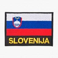 Našitek zastavica Slovenija z napisom