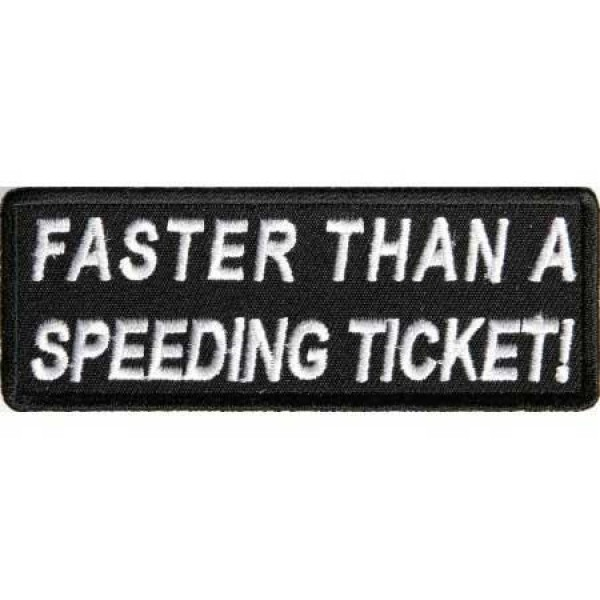 Našitek Speeding ticket