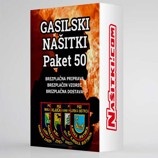 Gasilski našitki - paket 50