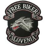 Našitek Volk Free biker Slovenija