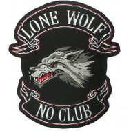 Našitek Lone Wolf No Club