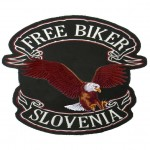 Našitek Orel Free biker Slovenija 2