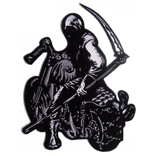 Našitek Reaper na motorju